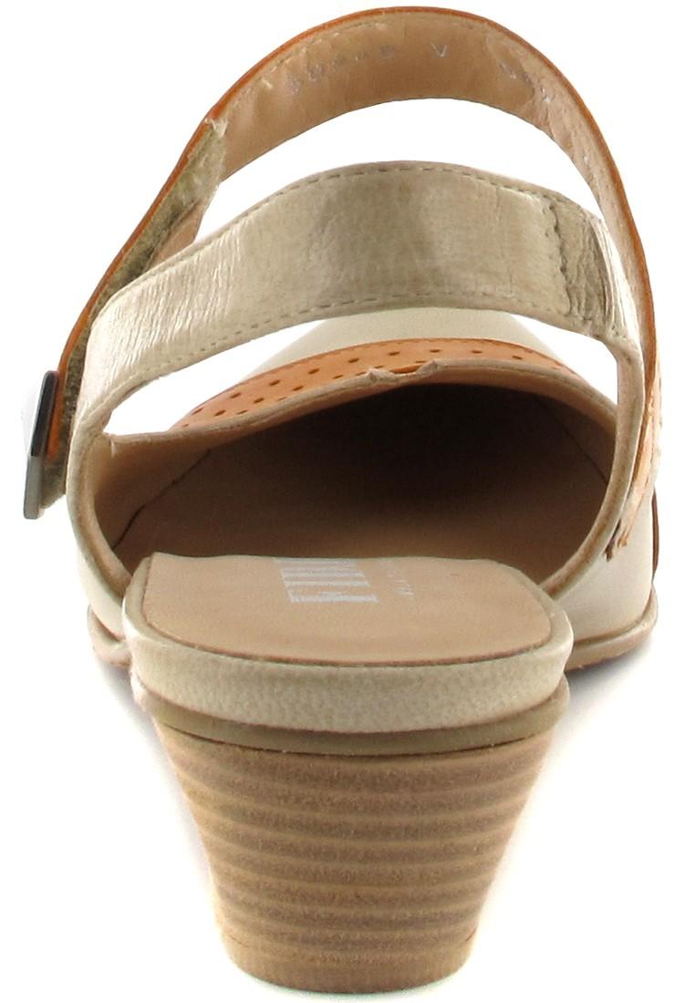 FIDJI - Damen Sling-Pumps - Braun/Orange Schuhe in Übergrößen – Bild 2