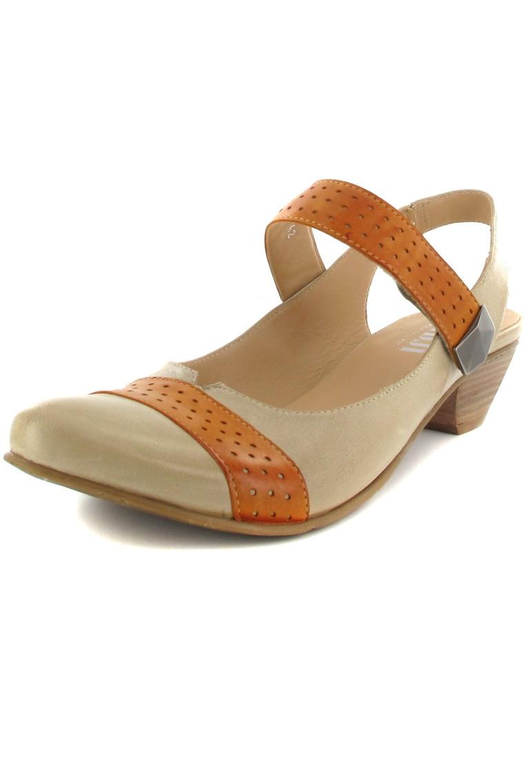 FIDJI - Damen Sling-Pumps - Braun/Orange Schuhe in Übergrößen – Bild 1