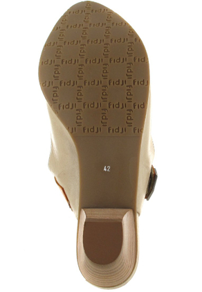 FIDJI - Damen Sling-Pumps - Braun/Orange Schuhe in Übergrößen – Bild 3