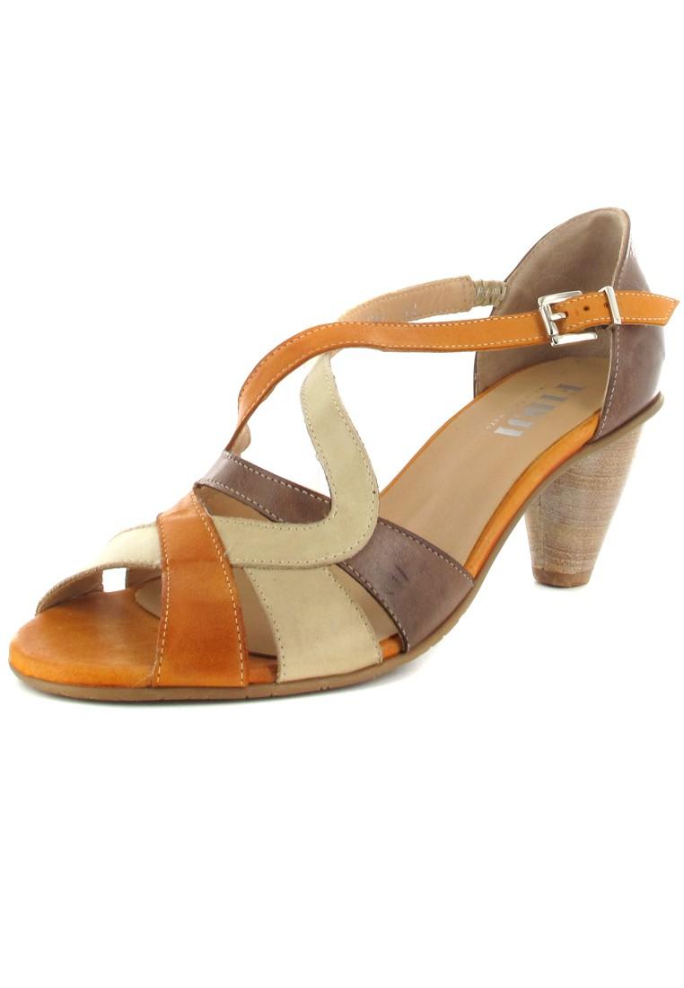 FIDJI - Damen Sandaletten - Braun/Orange Schuhe in Übergrößen – Bild 1