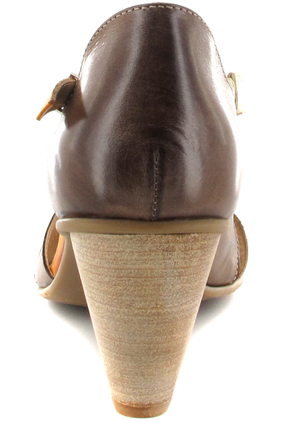 FIDJI - Damen Sandaletten - Braun/Orange Schuhe in Übergrößen – Bild 2