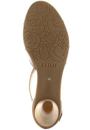 FIDJI - Damen Sandaletten - Braun/Orange Schuhe in Übergrößen – Bild 3