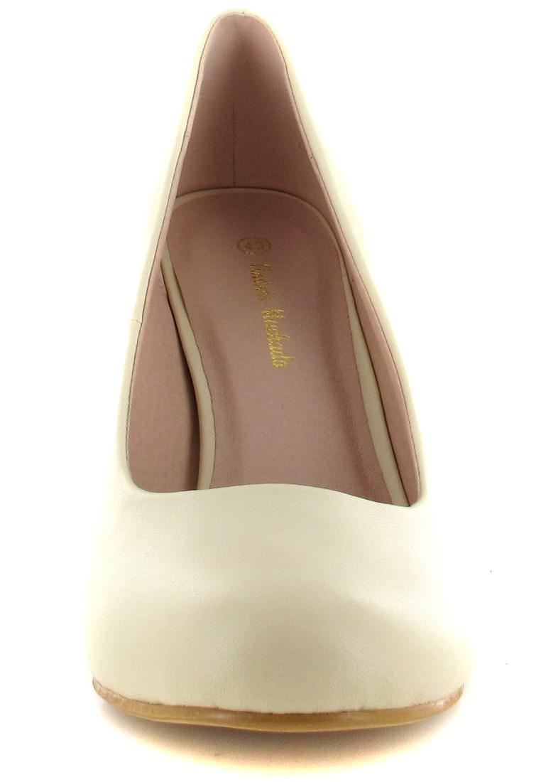 ANDRES MACHADO - Damen Pumps Brautschuhe - Beige Schuhe in Übergrößen – Bild 4