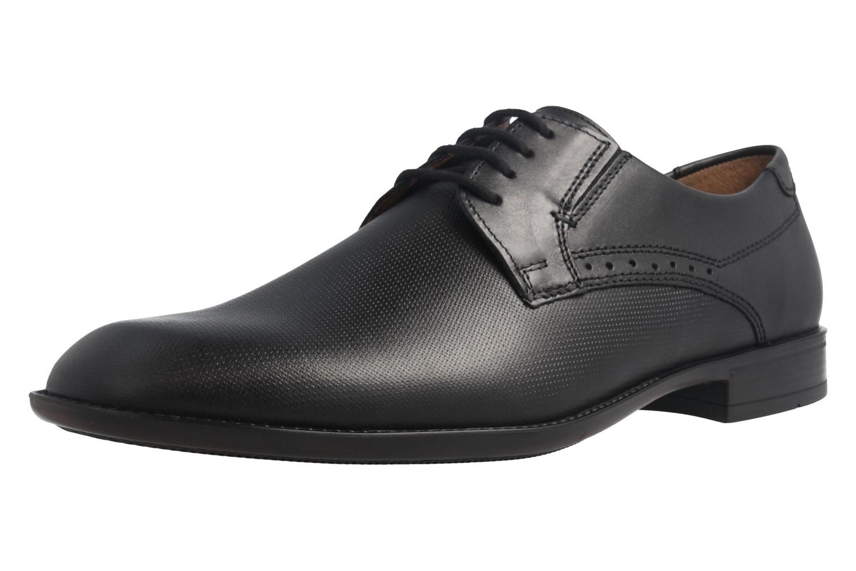 Fretz Men Business-Schuhe in Übergrößen Schwarz 9411.0662-51 große Herrenschuhe – Bild 1