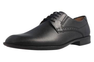 Fretz Men Tosco Business-Schuhe in Übergrößen Schwarz 9411.0662-51 große Herrenschuhe – Bild 1