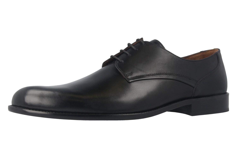Manz Business-Schuhe in Übergrößen Schwarz 142093-02-001 große Herrenschuhe – Bild 1
