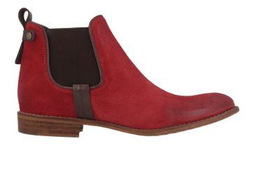 MUSTANG - Damen Chelsea Boots - Rot Schuhe in Übergrößen – Bild 3