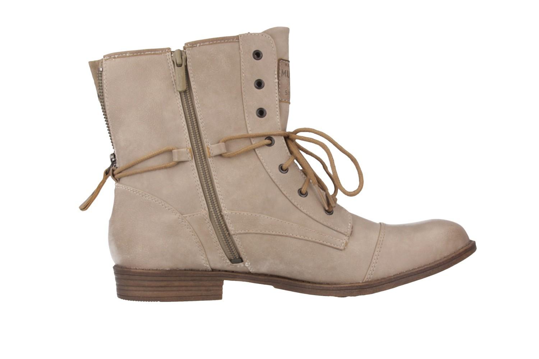 Mustang Shoes Boots in Übergrößen Elfenbein 1157-508-243 große Damenschuhe – Bild 3