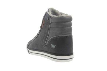 Mustang Shoes High Top Sneaker in Übergrößen Grau 1146-601-259 große Damenschuhe – Bild 2