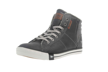 Mustang Shoes High Top Sneaker in Übergrößen Grau 1146-601-259 große Damenschuhe – Bild 6