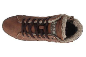 Mustang Shoes High Top Sneaker in Übergrößen Braun 1146-601-301 große Damenschuhe – Bild 4