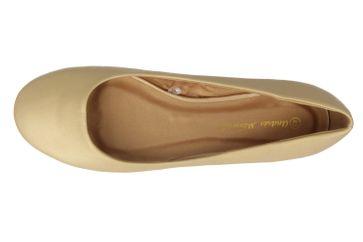 Andres Machado Ballerinas in Übergrößen Gold AM539 Soft Oro große Damenschuhe – Bild 4