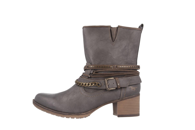 SALE - MUSTANG - Damen Stiefeletten - Grau Schuhe in Übergrößen – Bild 2
