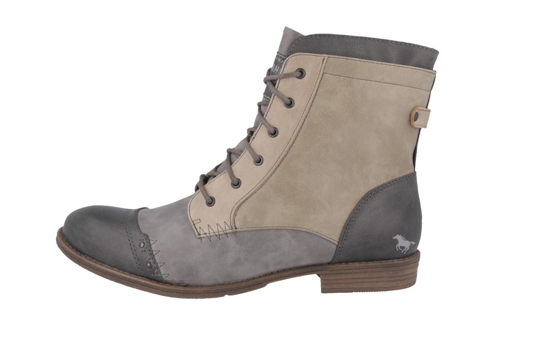 mustang damen boots grau schuhe in bergr en. Black Bedroom Furniture Sets. Home Design Ideas