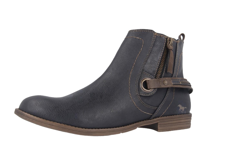 sale mustang damen boots blau schuhe in bergr en. Black Bedroom Furniture Sets. Home Design Ideas