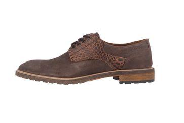 Manz Business-Schuhe in Übergrößen Braun 141003-02-187 große Herrenschuhe – Bild 2