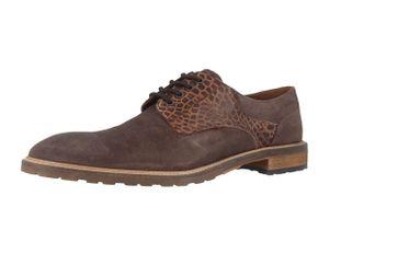Manz Business-Schuhe in Übergrößen Braun 141003-02-187 große Herrenschuhe – Bild 1