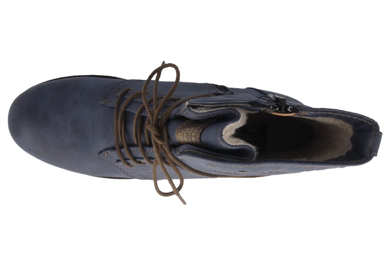 Mustang Shoes Stiefeletten in Übergrößen Blau NEW-19849 große Damenschuhe – Bild 4