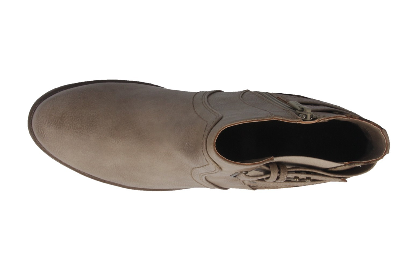 SALE - MUSTANG - Damen Stiefeletten - Beige Schuhe in Übergrößen – Bild 4