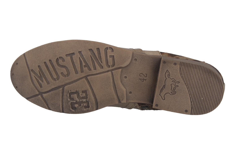 SALE - MUSTANG - Damen Stiefeletten - Beige Schuhe in Übergrößen – Bild 5