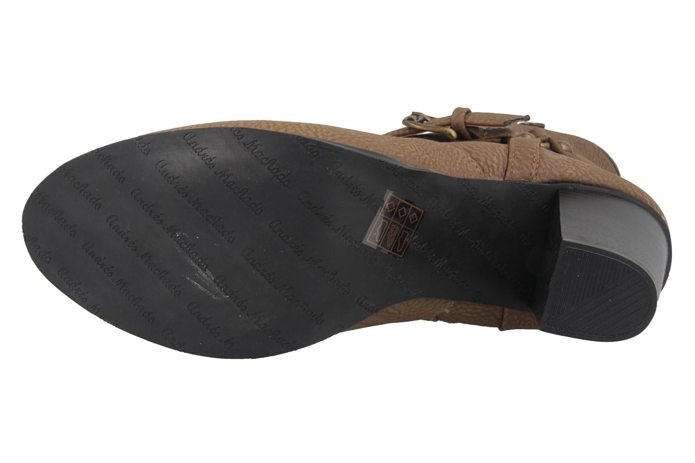 Andres Machado Stiefeletten in Übergrößen Braun AM4044 Pull Taupe große Damenschuhe – Bild 5