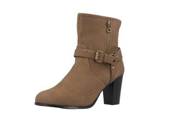 SALE - ANDRES MACHADO - Damen Stiefeletten - Braun Schuhe in Übergrößen