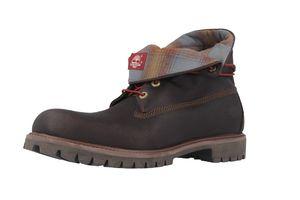 timberland herrenschuhe boots stiefel roll top schwarz