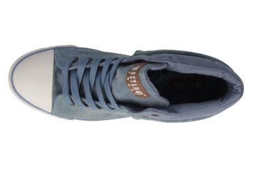 MUSTANG - Damen High Top Sneaker - Blau Schuhe in Übergrößen – Bild 4