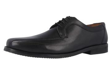 MANZ - Coll - Herren Business Schuhe - Schwarz Schuhe in Übergrößen – Bild 1