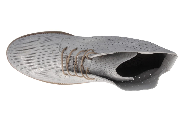MUSTANG - Damen Schnür-Booty - Silber Metallic Schuhe in Übergrößen – Bild 4