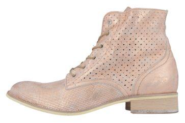 MUSTANG - Damen Schnür-Booty - Rosa Metallic Schuhe in Übergrößen – Bild 2