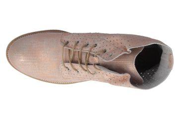 MUSTANG - Damen Schnür-Booty - Rosa Metallic Schuhe in Übergrößen – Bild 4