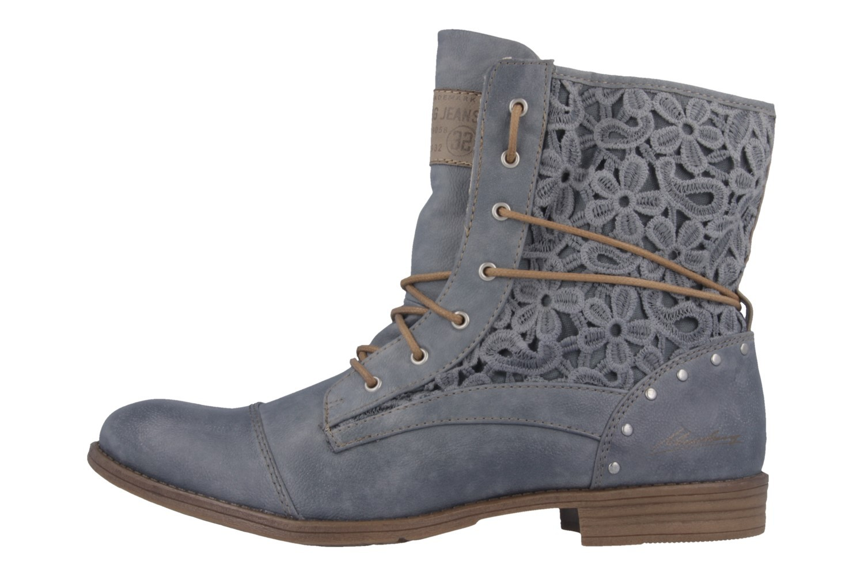 Mustang Shoes Boots in Übergrößen Blau 1157-527-875 große Damenschuhe – Bild 2