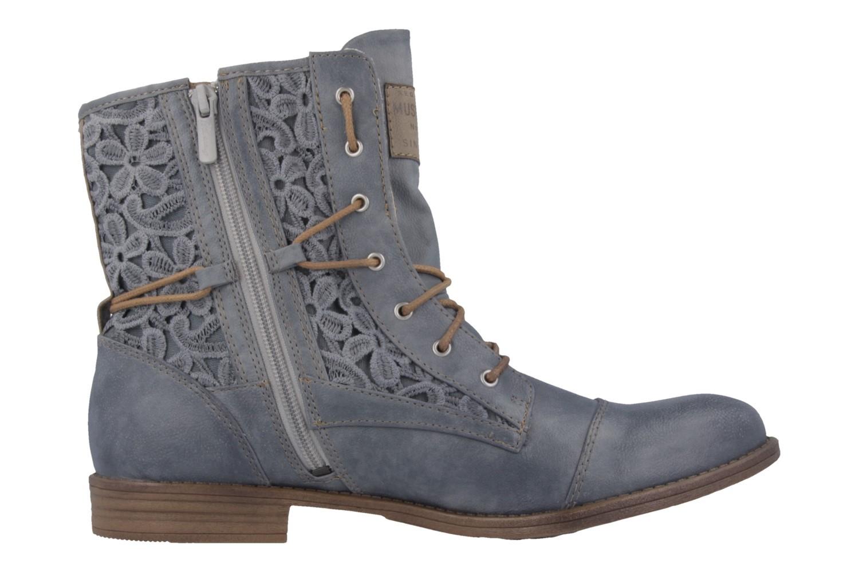 Mustang Shoes Boots in Übergrößen Blau 1157-527-875 große Damenschuhe – Bild 3
