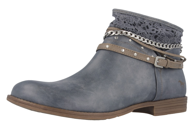 Mustang Shoes Boots in Übergrößen Blau 1157-514-875 große Damenschuhe – Bild 1