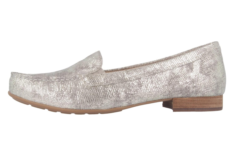 Gabor Mokassin in Übergrößen Silber 42.420.61 große Damenschuhe – Bild 2