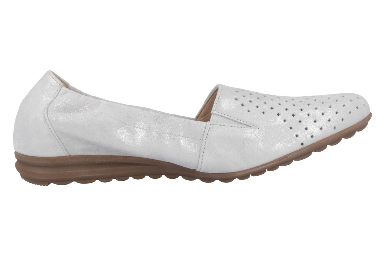 Gabor Slipper in Übergrößen Weiß 42.626.92 große Damenschuhe – Bild 3
