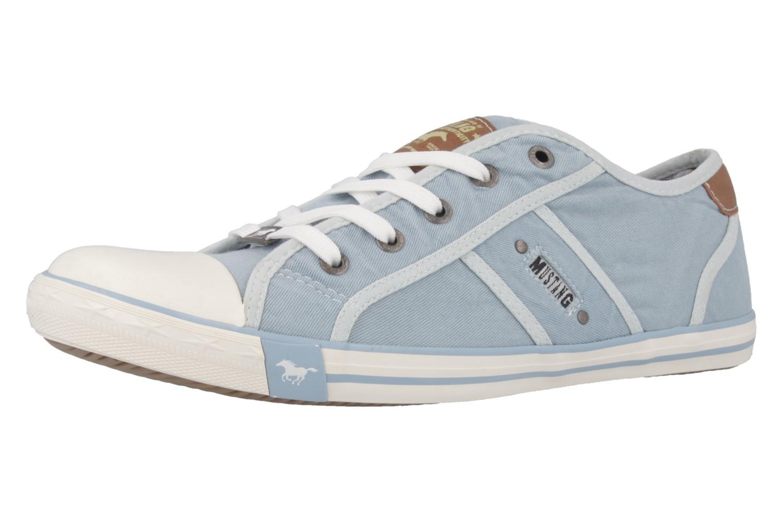 Mustang Shoes Sneaker in Übergrößen Blau 1099-302-832 große Damenschuhe – Bild 1