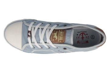 Mustang Shoes Sneaker in Übergrößen pastellblau 1099-302-832 große Damenschuhe – Bild 4