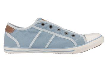 Mustang Shoes Slipper in Übergrößen Blau 1099-401-832 große Damenschuhe – Bild 3