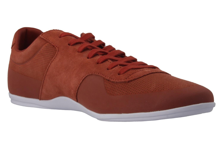 LACOSTE - Turnier 216 - Herren Sneaker - Orange Schuhe in Übergrößen – Bild 4