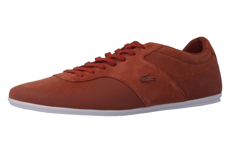 LACOSTE - Turnier 216 - Herren Sneaker - Orange Schuhe in Übergrößen – Bild 1