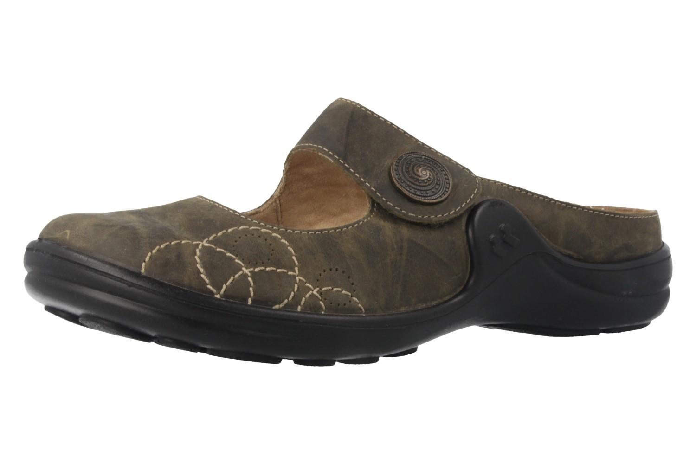 ROMIKA - Maddy 12 - Damen Clogs - Oliv Schuhe in Übergrößen – Bild 1