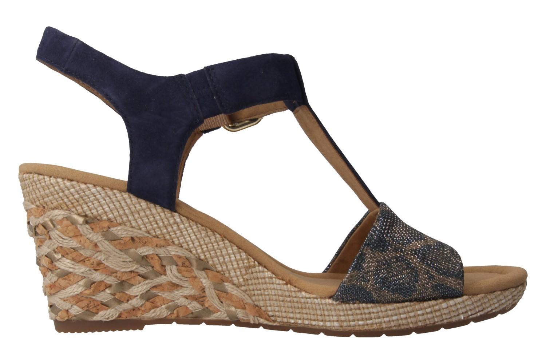 GABOR comfort - Damen Keil-Sandaletten - Blau Schuhe in Übergrößen – Bild 3