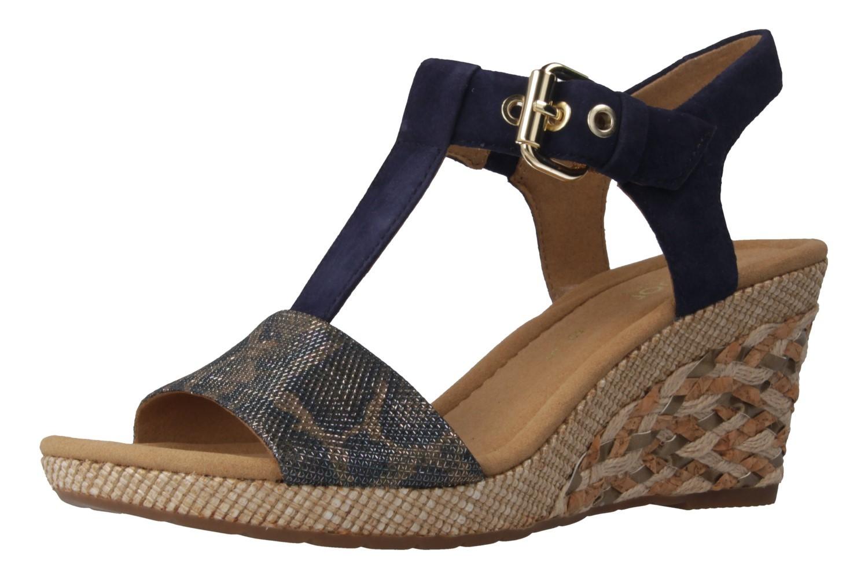 GABOR comfort - Damen Keil-Sandaletten - Blau Schuhe in Übergrößen – Bild 1