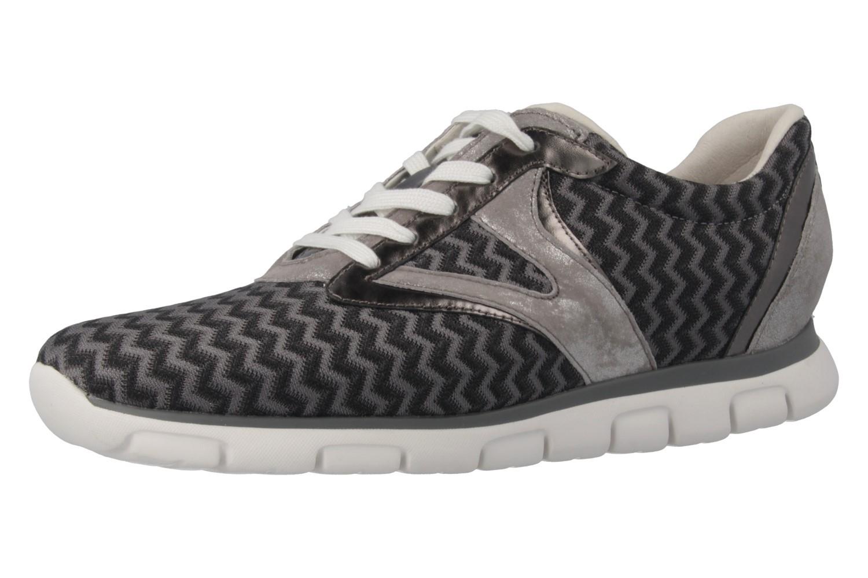 GABOR sport - Damen Sneaker - Grau/Schwarz Schuhe in Übergrößen – Bild 1