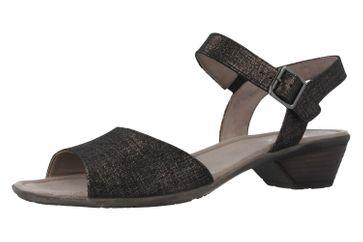 GABOR - Damen Sandaletten - Schwarz Metallic Schuhe in Übergrößen – Bild 1