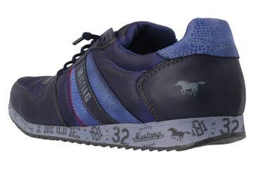 Mustang Shoes Sneaker in Übergrößen Blau 1226-401-800 große Damenschuhe – Bild 2