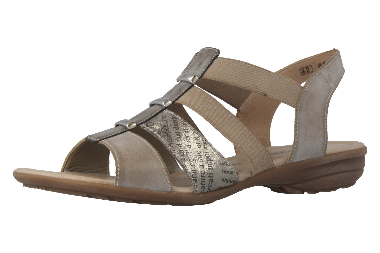 Remonte Sandalen in Übergrößen Grau R3644-25 große Damenschuhe – Bild 1