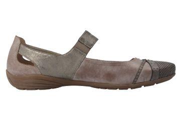 REMONTE - Damen Spangenballerinas - Braun Schuhe in Übergrößen – Bild 3